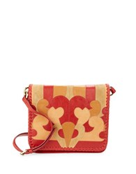 Nanette Lepore Echo Suede And Leather Crossbody Flame