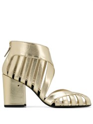 Laurence Dacade Alix Metallic Cut Out Detail Sandals 60