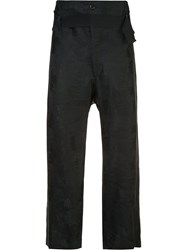 Ann Demeulemeester Belted Waist Cropped Trousers Black