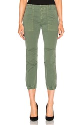 Nili Lotan Cropped Military Pant In Green
