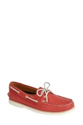 Sperry 'Authentic Original Gold Cup' Leather Boat Shoe Women Red