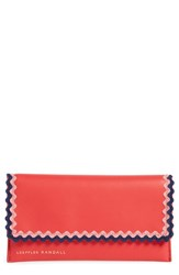 Loeffler Randall Women's Everything Embellished Leather Wallet Red Bright Red Multi