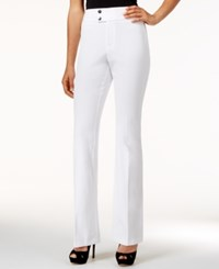 Inc International Concepts High Waist Flare Leg Pants Only At Macy's Bright White