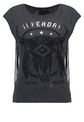 Superdry Savanna Print Tshirt Charcoal Grey