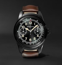 Montblanc Summit 46Mm Pvd Coated Stainless Steel And Leather Smartwatch Brown