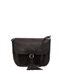 Frye Clara Leather Saddle Bag Black