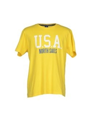 North Sails T Shirts Yellow