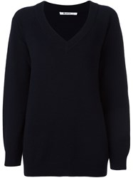 Alexander Wang T By V Neck Jumper Blue
