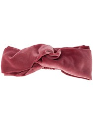 Ca And Lou Knot Detail Headband Pink