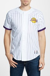 Men's Mitchell And Ness 'Los Angeles Lakers' Short Sleeve Shirt