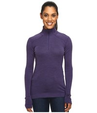 Smartwool Nts Mid 250 Zip Top Mountain Purple Heather Women's Long Sleeve Pullover Metallic