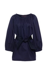 Martin Grant Belted Three Quarter Sleeve Blouse Navy