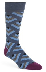 Ted Baker London Ram Geometric Socks Blue