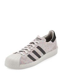 Adidas Men's Superstar 80S Primeknit Sneaker White Black White Black