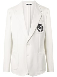 Dolce And Gabbana Embroidered Logo Tailored Suit 60
