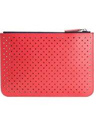Emporio Armani Perforated Clutch Set Red