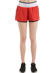 Adidas By Stella Mccartney Training Layered Shorts