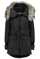 Khujo Retro Bugs Winter Coat Charcoal Melange Dark Grey