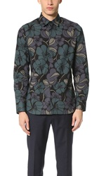 Marni Long Sleeve Shirt Dark Sea Green