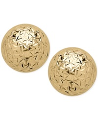 Macy's Crystal Cut Ball Stud Earrings 10Mm In 14K Gold