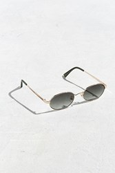 Urban Outfitters Uo Small Metal Oval Sunglasses Gold