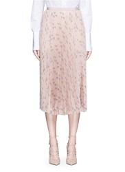Valentino 'Russian Ballet' Print Pleat Skirt Pink