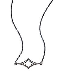 Armenta Old World Champagne Diamond And Sterling Silver Pendant Necklace