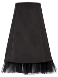 Ted Baker Olenaa Tulle Trim Midi Skirt Black