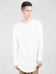 Represent Clothing Ivory Costa Long Sleeve Scooped T Shirt