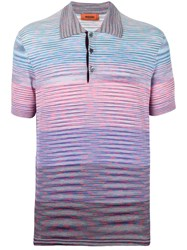 Missoni Gradient Polo Shirt Pink And Purple