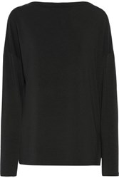 Vince Stretch Micro Modal Top Black