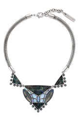 Vince Camuto 'Beach Comber' Frontal Necklace Silver Black Blue Multi