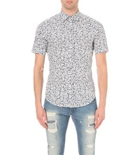 Diesel S Blu Regular Fit Cotton Shirt Grey