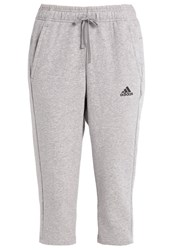 Adidas Performance 3 4 Sports Trousers Medium Grey Heather Black