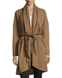 Goldie London Falling Out Wool Blend Oversized Cardigan Brown