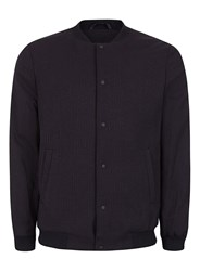 Topman Blue Navy Pinstripe Formal Bomber Jacket