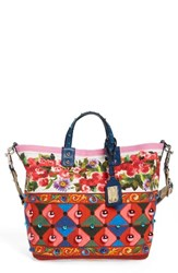 Dolce And Gabbana Carretto Print Canvas Shoulder Bag