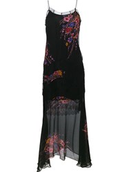 Etro Printed Lace Insert Dress Black
