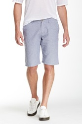 14Th And Union Flat Front Printed Shorts Blue