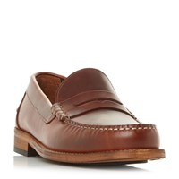 Barbour Wylam Penny Loafer Shoes Brown