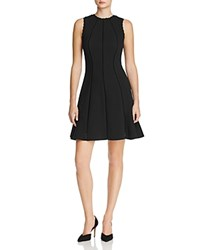 Rebecca Taylor Lattice Lines Dress Black