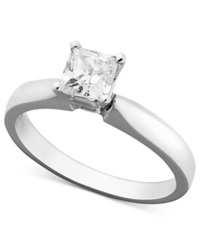 Macy's Certified Princess Cut Diamond Solitaire Engagement Ring In 14K White Gold 5 8 Ct. T.W.