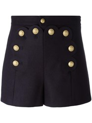 Red Valentino High Waisted Shorts Blue