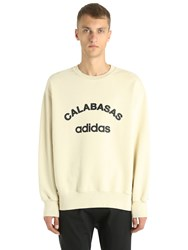 Yeezy Calabasas Adidas Print Cotton Sweatshirt Off White