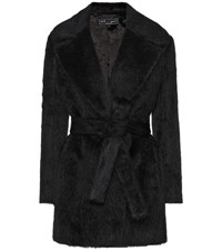 Salvatore Ferragamo Alpaca And Wool Coat Black