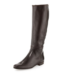 Gravati Napa Leather Mid Calf Boot Black