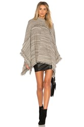 Michael Stars Totally Twisted Poncho Gray