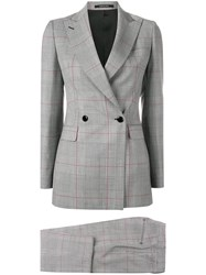 Tagliatore Classic Checked Two Piece Suit Grey