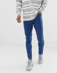 Bershka Super Skinny Jeans In Light Blue Light Blue