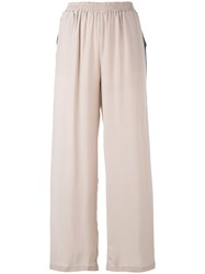 Gold Hawk Wide Leg Track Pants Women Silk Xs Pink Purple
